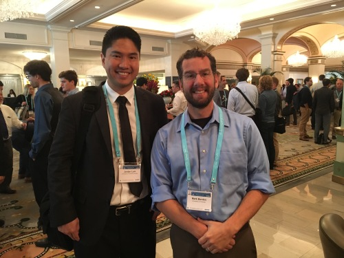 Jordan and Dr. Borden at IEEE